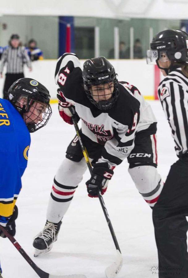Jonah Bevington representing Okanagan Hockey Academy's Edmonton campus. Photo: Supplied