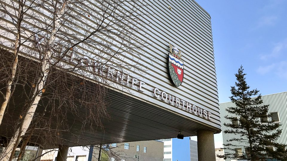 A file photo of Yellowknife's courthouse