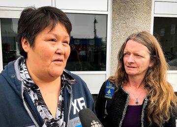 Louisa Lafferty, mother of Charlotte Lafferty, speaks to reporters outside of court