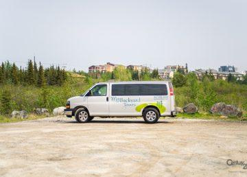 A My Backyard Tours van