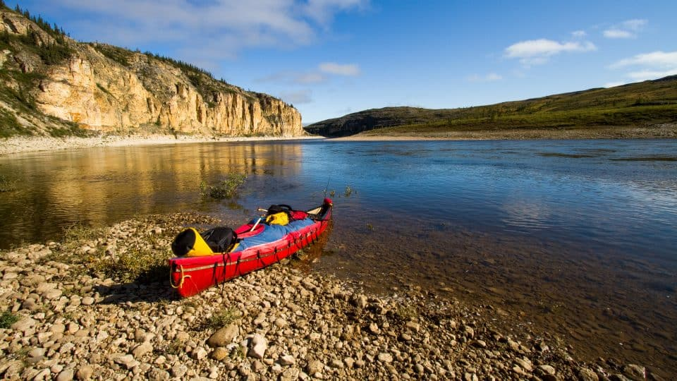 A file photo of a canoe in the NWT barrenlands