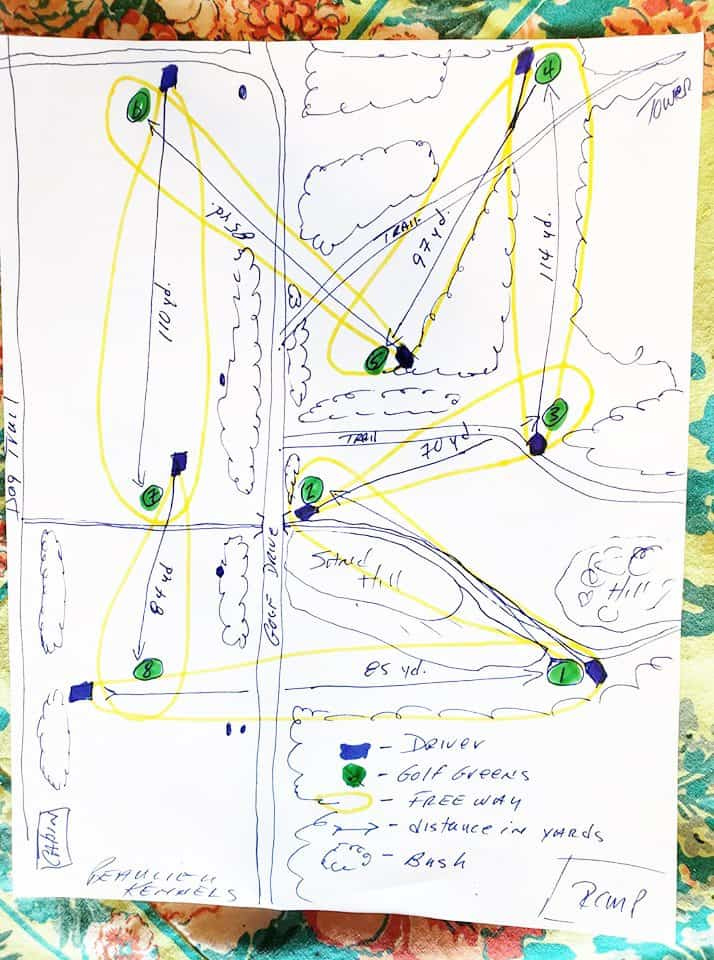 A map of Fort Providence's golf course. Beaulieu Kennels/Facebook