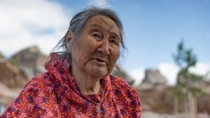 Mary Kudlak at the grand opening of the new Stanton Territorial Hospital in July 2019. Sarah Pruys/Cabin Radio