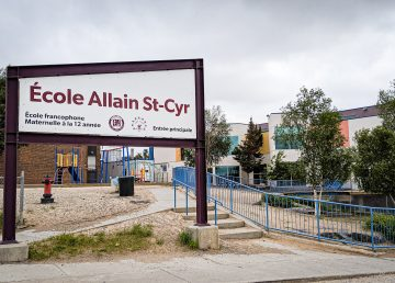 École Allain St-Cyr School is pictured in July 2019
