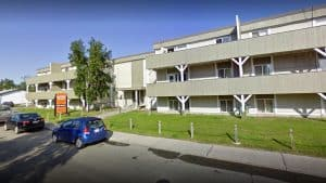 Yellowknife's Sunridge Place apartments on 51A Avenue appear in a Google Streetview image
