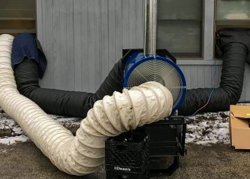 An example of a heat treatment installation