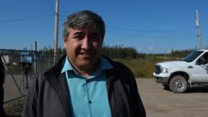 Chief of Behchoko Clifford Daniels in Whati August 24 2019
