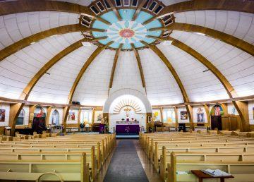 The interior of Inuvik's Igloo Church