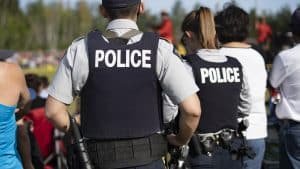 A file photo of RCMP officers in Hay River