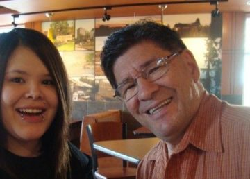 David Poitras with his granddaughter in a 2009 Facebook photo.