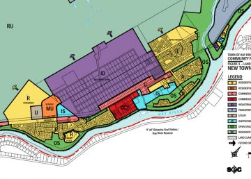 The Hay River community plan identifies the plan for Fraser Place in the lower left-hand corner.