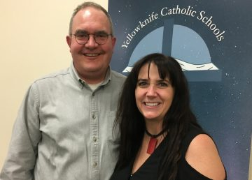 Trustee and board chair Miles Welsh, pictured with superintendent Simone Gessler