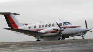 A Beechcraft King Air 200, part of Aklak Air's fleet