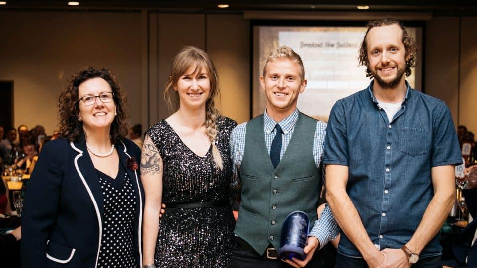 Barren Ground Coffee staff with their award