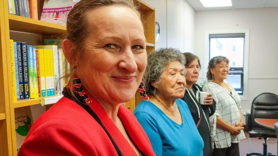 Caroline Cochrane at a funding announcement in June 2018