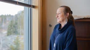Caroline Cochrane at her office in the NWT legislature