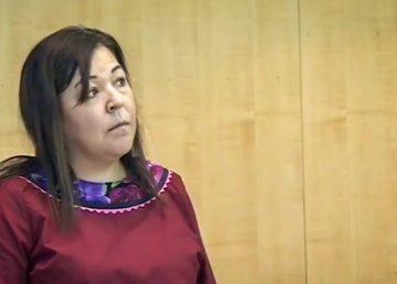 Diane Thom addresses the legislature in October 2019