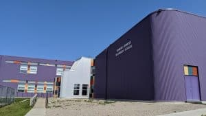 Hay River's Diamond Jenness High School in August 2019