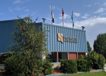 The NWT Power Corporation building in Hay River is seen in August 2019