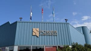 The NWT Power Corporation building in Hay River is seen in August 2019. Sarah Pruys/Cabin Radio