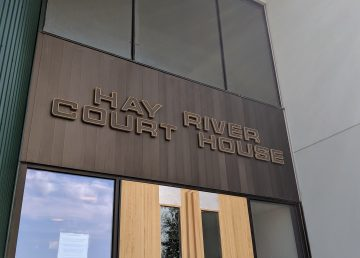 Hay River's courthouse in August 2019
