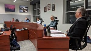 Federal election candidates in Yellowknife's City Hall on October 16, 2019