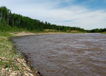 A file photo of the Hay River