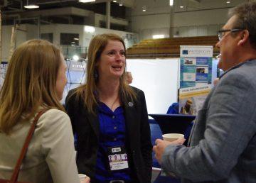 Katrina Nokleby speaks to attendees at the 2019 Yellowknife Geoscience Forum