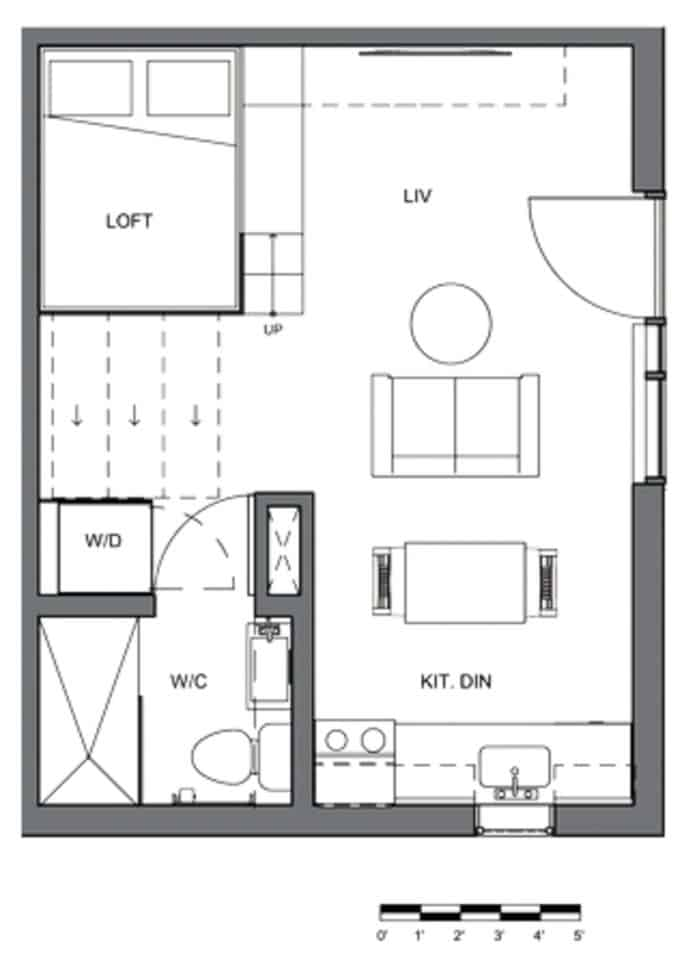 A floor plan of a typical Gem condominium