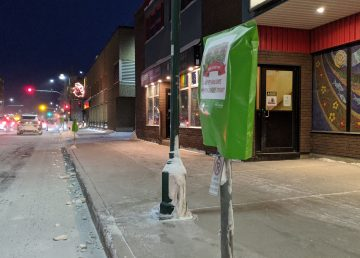 Free parking bags on meters in downtown Yellowknife