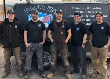 Members of staff at Polar Ice Mechanical in a submitted photo. Missing is Doreen Wedzin-Brazeau