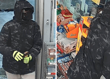 RCMP handout images of a man pictured during a reported robbery at the Shell gas station on December 6, 2019