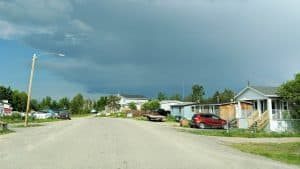A file photo of homes in Behchokǫ̀