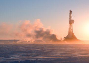 Drilling north of the Arctic Circle near Tuktoyaktuk
