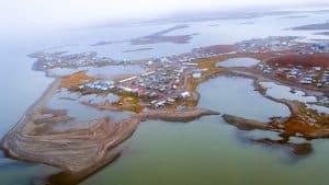 An aerial view of Tuktoyaktuk