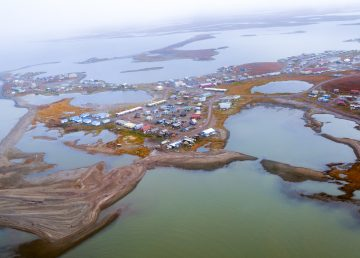 An aerial view of Tuktoyaktuk
