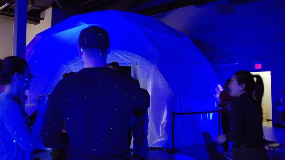 Guests get a sneak peek of Tony Wang's dome theatre experience
