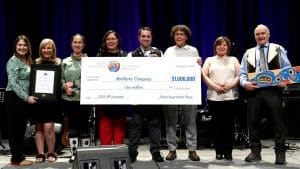 Northern Compass project leaders accept their $1-million prize at the 2019 Arctic Inspiration Prize awards ceremony