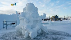 Chris Hadfield as sculpted by Team New Friends of Manitoba and Alberta: Dawn Detarando, Brian McArthur, and Jodin Pratt