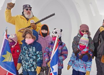 Snowking and accomplices open the 25th-anniversary Snowcastle