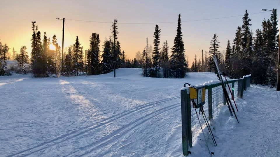 A photo of Yellowknife's ski trails posted to Facebook by the Yellowknife Ski Club
