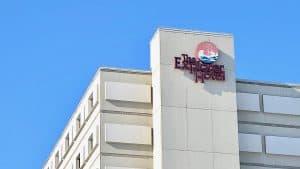 Yellowknife's Explorer Hotel is seen in April 2020