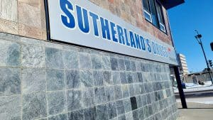 Sutherland's Drugs pharmacy in Yellowknife