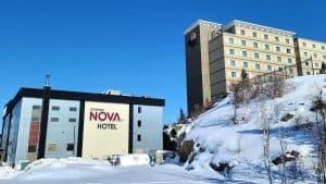 Yellowknife's Chateau Nova, left, and Explorer hotels