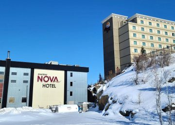 Yellowknife's Chateau Nova, left, and Explorer hotels