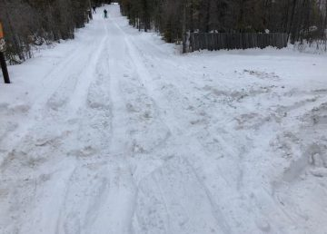 Trails at the Yellowknife Ski Club were recently damaged after someone drove over them