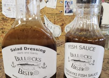 Bullocks Bistro's coveted salad dressing and fish sauce