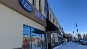A file photo of the pharmacy in Hay River in February 2020