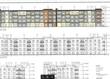 A schematic for a new apartment building at Bartram Court, as circulated by the City of Yellowknife to nearby residents