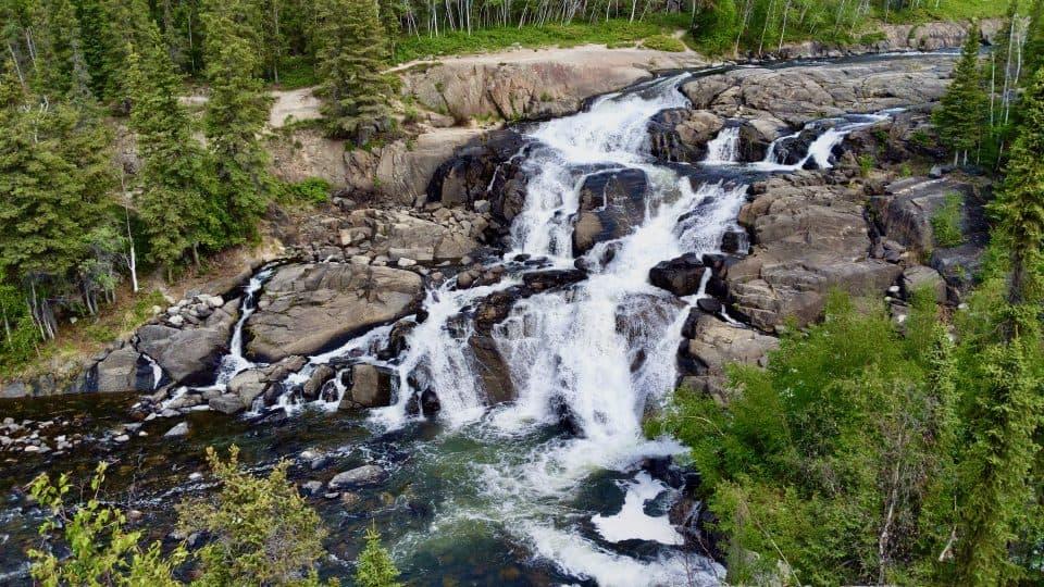 Cameron Falls, inside the North Slave's Hidden Lake Territorial Park, in June 2019